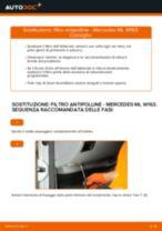 Come cambiare è regolare Filtro abitacolo MERCEDES-BENZ M-CLASS: pdf tutorial