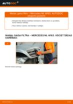 Kā nomainīt un noregulēt Gaisa filtrs MERCEDES-BENZ M-CLASS: pdf ceļvedis
