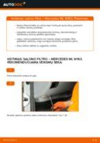 MERCEDES-BENZ M-CLASS Oro filtras, keleivio vieta keitimas: nemokamas pdf