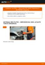 Žingsnis po žingsnio remonto vadovas Mercedes W166