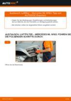 Wechseln von Heckleuchten Glühlampe Instruktion PDF für MERCEDES-BENZ M-CLASS