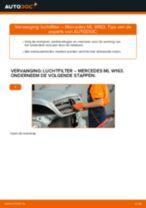 Hoe Luchtfilter vervangen en installeren MERCEDES-BENZ M-CLASS: pdf tutorial