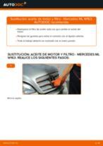 Instrucciones gratuitas en línea sobre cómo renovar Filtro de aceite motor MERCEDES-BENZ M-CLASS (W163)