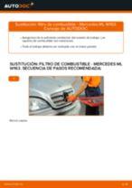 Sustitución de Cilindro maestro de frenos en MERCEDES-BENZ M-CLASS (W163) - consejos y trucos