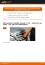 MERCEDES-BENZ ML-Class repair manual and maintenance tutorial