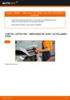 Byta Luftfilter MERCEDES-BENZ M-CLASS: gratis pdf
