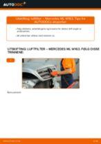 Skifte Luftfilter MERCEDES-BENZ M-CLASS: gratis pdf