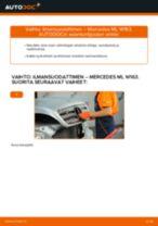 Milloin vaihtaa Ilmansuodatin MERCEDES-BENZ M-CLASS (W163): käsikirja pdf