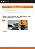 Kedy meniť Vzduchový filter MERCEDES-BENZ M-CLASS (W163): pdf príručka