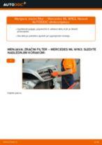 PDF priročnik za zamenjavo: Zracni filter MERCEDES-BENZ Razred M (W163)