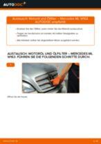 Wie Bremssattel Reparatursatz beim MERCEDES-BENZ M-CLASS (W163) wechseln - Handbuch online