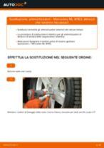 Cambiare Ammortizzatori MERCEDES-BENZ M-CLASS: manuale tecnico d'officina
