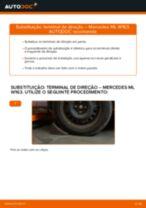 Recomendações do mecânico de automóveis sobre a substituição de MERCEDES-BENZ ML W163 ML 320 3.2 (163.154) Filtro de Óleo