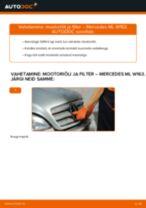 MERCEDES-BENZ M-CLASS Õlifilter vahetus: tasuta pdf