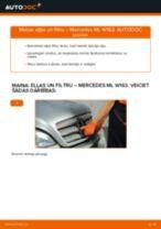 MERCEDES-BENZ M-CLASS Eļļas filtrs nomaiņa: rokasgrāmata