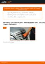 MERCEDES-BENZ Alyvos filtras keitimas pasidaryk pats - internetinės instrukcijos pdf