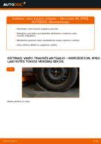 MERCEDES-BENZ CITAN Skersinės vairo trauklės galas pakeisti: žinynai pdf