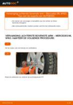 Wanneer Draagarm set MERCEDES-BENZ M-CLASS (W163) veranderen: pdf tutorial