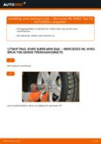 Montering Tennplugger MERCEDES-BENZ M-CLASS (W163) - steg-for-steg manualer