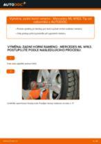 Jak vyměnit levý a pravý Řídící páka zavěšení kol MERCEDES-BENZ udělej si sám - online návody pdf