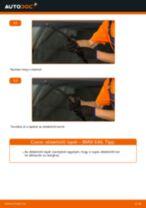 Elülső ablaktörlő lapát-csere BMW E46 gépkocsin – Útmutató