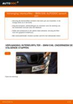 Zelf Cabine filter vervangen BMW - online handleidingen pdf