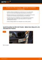 Cambio Filtro antipolen BMW bricolaje - manual pdf en línea