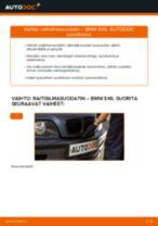 Kuinka vaihtaa raitisilmasuodatin BMW E46-autoon – vaihto-ohje