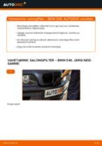 Kuidas vahetada BMW E46 salongifilter – õpetus