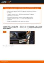 Pollenszűrő-csere BMW E46 gépkocsin – Útmutató