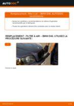 Notre guide PDF gratuit vous aidera à résoudre vos problèmes de BMW BMW 3 Touring (E46) 320i 2.2 Filtre à Huile