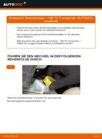 Wie der Wechsel durchführt wird: Bremsbeläge VW T5 Kasten 2.5 TDI 2.5 TDI 4motion 1.9 TDI tauschen