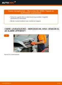 Hogyan végezze a cserét: MERCEDES-BENZ M-CLASS Levegőszűrő