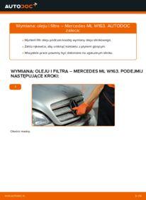 Jak przeprowadzić wymianę: Filtr oleju w MERCEDES-BENZ M-CLASS