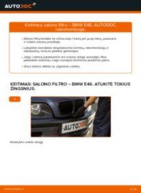 Kaip atlikti keitimą: 320d 2.0 BMW E46 Oro filtras, keleivio vieta