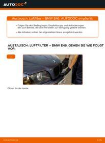 Wie der Wechsel durchführt wird: Luftfilter 320d 2.0 BMW E46 tauschen