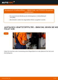 Wie der Wechsel durchführt wird: Kraftstofffilter 320d 2.0 BMW E46 tauschen