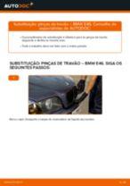 Como mudar pinças de travão da parte dianteira em BMW E46 - guia de substituição
