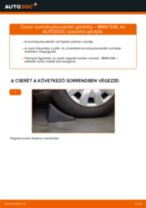 Kormányösszekötő gömbfej-csere BMW E46 gépkocsin – Útmutató
