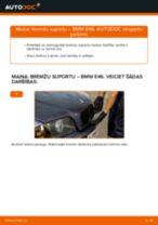 Kā nomainīt: priekšas bremžu suportu BMW E46 - nomaiņas ceļvedis