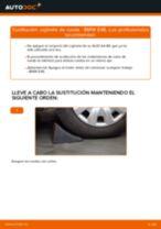 Instalación Juego de cojinete de rueda BMW 3 (E46) - tutorial paso a paso