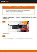 Byta luftfilter på Toyota RAV4 II – utbytesguide