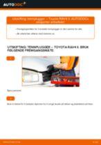 Skifte Dynamo TOYOTA RAV4: verkstedhåndbok