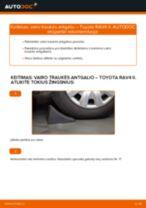Kaip pakeisti Toyota RAV4 II vairo traukės antgalio - keitimo instrukcija