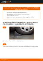 Bremshalter vorderachse und hinterachse austauschen: Online-Anleitung für TOYOTA RAV4