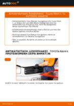 Πώς αλλαγη και ρυθμιζω Δισκόπλακα TOYOTA RAV4: οδηγός pdf