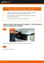 Como mudar pastilhas de travão da parte dianteira em Toyota RAV4 II - guia de substituição