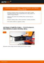 Kaip pakeisti Toyota RAV4 II stabdžių diskų: priekis - keitimo instrukcija