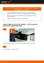 Înlocuire Placute Frana spate si față TOYOTA cu propriile mâini - online instrucțiuni pdf