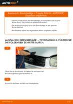 PDF Wechsel Anleitung: Bremsklötze TOYOTA RAV 4 II (CLA2_, XA2_, ZCA2_, ACA2_) hinten + vorne